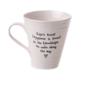 Life's Truest Happiness Porcelain mug