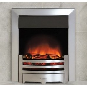 Logic Electric Fire Box Brushed Steel effect