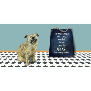 The Little Dog - Lottery Win Greeting Card