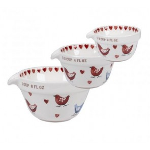 Alex Clark Love birds Measuring Cups