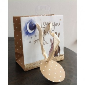 Love You To The Moon And Back Small Gift Bag by Alex Clark