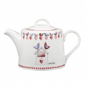 Alex Clark Lovebirds Teapot