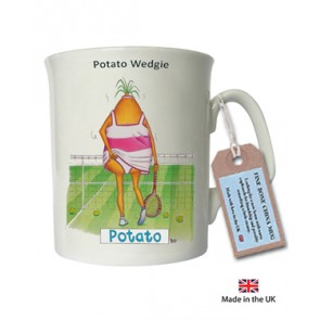 Potato Wedgie china mug - Tennis Girl