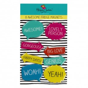 Set of eight fridge magnets by Happy Jackson