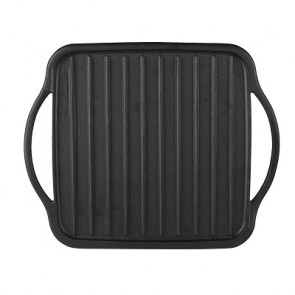 Cast Iron Double Burner Reversible Grill/ Griddle