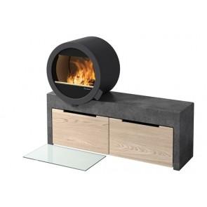 Nordpeis ME standard on concrete bench - optional oak drawer