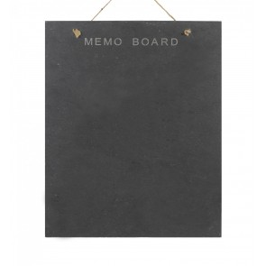 Slate Memo Board - rectangular, wall hung