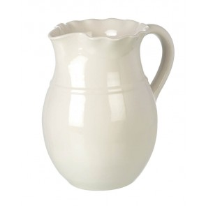 Miel Large Ceramic Pitcher Jug in Cream - Handmade - Parlane
