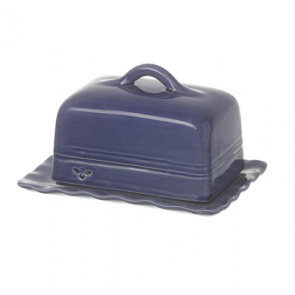 Miel Butter Dish in Dark Blue