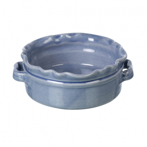 Miel small round baking dish in light blue
