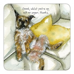 The Little Dog - Milk No Sugar Coaster