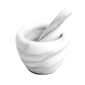 Mini white marble Mortar & Pestle - 85mm diameter