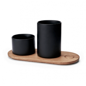 Morso Kit Wooden Tray with Two Jars