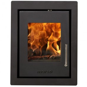 Morso S-81 built in stove with black trimming