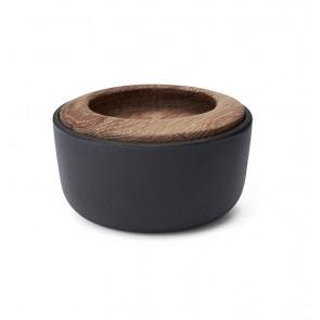 Morso Kit Salt Pot - Cast Iron & Oiled Oak