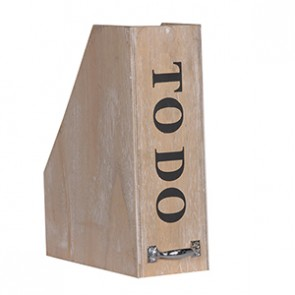 Wooden 'To Do' File