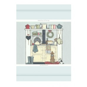 North Face of the AGA Teatowel (cotton) - Sally Swanell Print