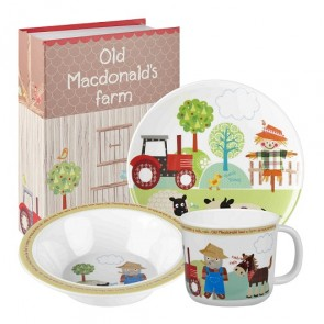 Old MacDonalds Farm Melamine Dinner Set