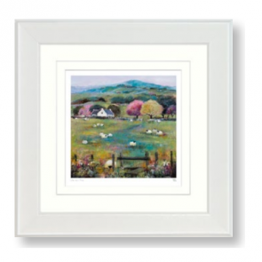 Over the Stile - Small Framed Picture by Debbie Neil - Artko UK