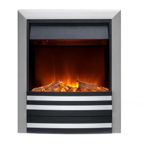 Burley Overton Nickel Inset Electric Fire