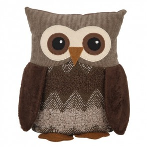 Owl Door Stop - Mixed Fabric