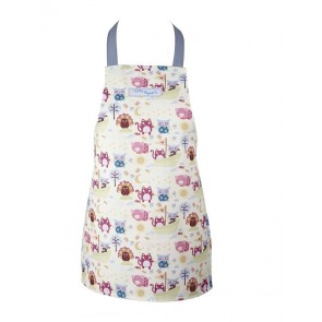 Cotton Child's Cooking Apron - Owl and The Pussycat