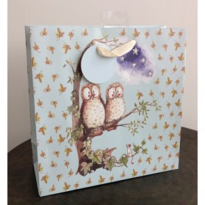 Owls Medium Gift Bag by Alex Clark