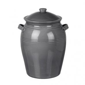 Parlane Miel Ceramic Bread Crock in Dark Grey