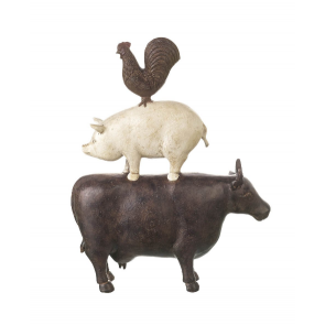 Cow Pig chicken Ornament