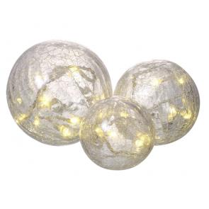 Glass Crackle Ball Lights