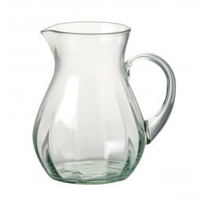 Small glass pitcher jug by Parlane. 170mm high x 130mm diameter.