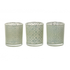 Parlane Josie Set of 3 Tealight Holders in Green