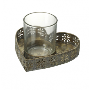 Parlane Heart Shaped Tray Tea Light Holder