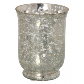 Hurricane Mirror Crackle Candle Holder 513247