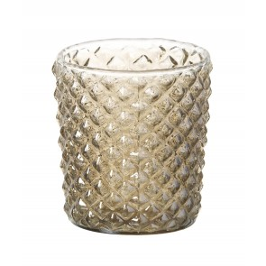 Parlane Lena Glass Tealight Candle Holder - Gold glass