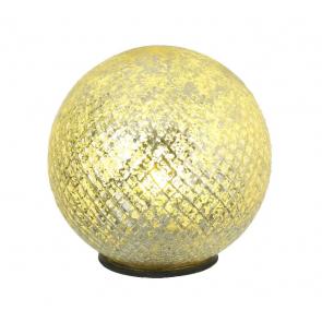 Light Globe wit Antique Silver Finish