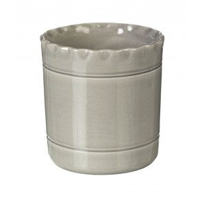 Miel Ceramic Utensil Pot in grey - handmade in Portugal - 140mm x 140mm