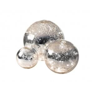 Parlane decorative set of 3 illuminated mirrored balls