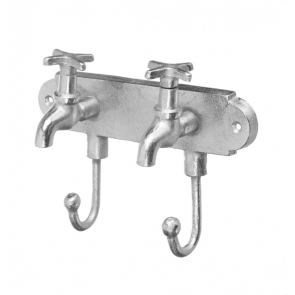Tap Hooks in Aluminium silver finish by Parlane
