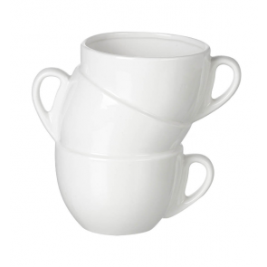 Parlane White Cups Storage Pot - Porcelain