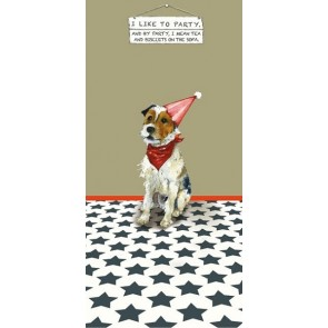 The Little Dog - Party Animal Greeting Card