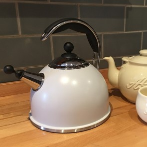 AGA Stainless Steel Whistling Kettle Pearl Ashes