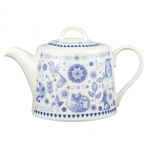 Blue & White Penzance Fine China Teapot