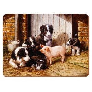 Piggy in the Middle Set of 6 Placemats