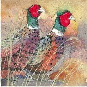 Alex Clarke Pleasant Pheasant Mini Print