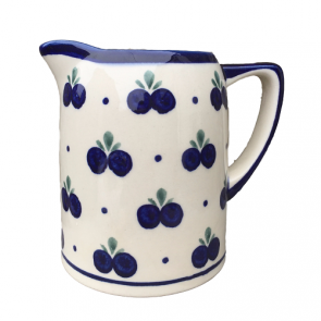 Boleslawiec Polish Pottery Pint Jug in Blueberry