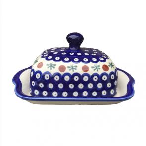 Polish Pottery - Boleslawiec Lidded Butter Storage Dish in Cranberry