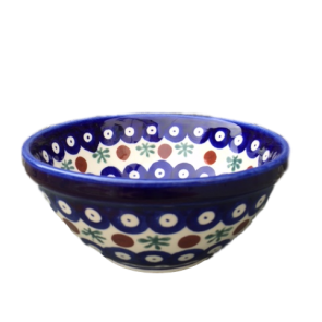 Cranberry Polish Pottery Cereal bowl - Hand Painted