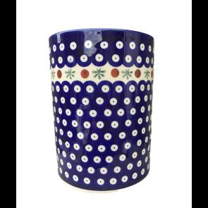 Cranberry Polish Pottery Utensil Jar by Boleslawiec