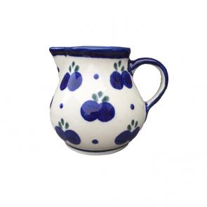 Polish Pottery Cream Jug with Blueberry Pattern - Boleslawiec Pottery